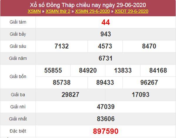 Dự đoán XSDT 6/7/2020 chốt KQXS Đồng Tháp thứ 2
