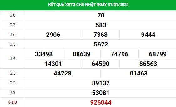 Dự đoán kết quả XS Tiền Giang Vip ngày 07/02/2021
