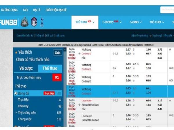 Những tiêu chí để chọn website xem tỷ lệ bóng đá trực tiếp?